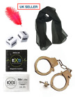 FUN ADULT BEDROOM GAME & TOYS - DICE, FEATHER, HANDCUFFS, SCARF. UK SELLER