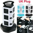 3M Extension Lead Cable Surge Protected Tower Power Socket + USB Port UK Plug