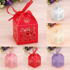 25-100PCS Luxury Wedding Favour Sweet Cake Gift Candy Boxes party table Heart UK