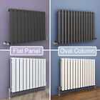 Horizontal Designer Column Panel Radiators Central Heating Anthracite and White