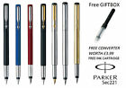 GENIUNE PARKER VECTOR FOUNTAIN PEN BLACK, BLUE, RED, SILVER, GOLD, BLACK