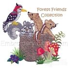 FOREST FRIENDS COLLECTION - MACHINE EMBROIDERY DESIGNS ON CD OR USB
