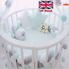 2M Baby Infant Plush Crib Pad Bumper Bed Bedding Cot Braid Pillow Protector