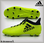 Adidas X 17.3 FG Yellow Sock Football Boots Girls Boys Size UK 10 12 13 1 3 4