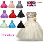 Kids Baby Flower Girl Party Sequins Dress Wedding Bridesmaid Dresses Ages 6M-8Y