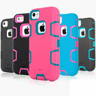 360°Full Body Protective Hybrid Shockproof Armor Case Cover For iPhone 6S 5C 4S