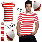 New Men s & Women s Licensed Wheres Wally Fancy Dress Kit Set Book Week Day