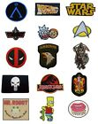 TV Show Movie Film Cartoon Iron On Sew On Patches Badges Transfers Fancy Dress