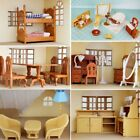 Dolls House Kitchen Living Room Bedroom Miniature Furniture Kids Toys 1:12 Scale