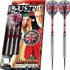 HARROWS ERIC BRISTOW SILVER TUNGSTEN DARTS SET - KNURLED OR RINGED, 22-26 gram