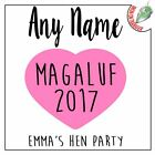 Custom Design Wedding Hen Party Iron On T Shirt Transfers Any Name Personalised