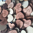 Hollow Rustic Small Wooden Hearts Love Wedding Table Decorations Confetti