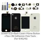 iPhone 4 4S Replacement Front Back Glass LCD Touch Screen Digitizer Rear Cover