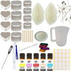 Eco Soy Candle Making Kit 11 - Beginner Starter Set In Tins Fragrance & Colour