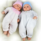 "18"" Realistic Lifelike New Born Baby Doll in Swaddle Blanket & Laughing Sounds"