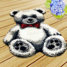 Large Latch Hook Kits for Girls Boys Hand Embroidery Lovely Bear Cushion Rug