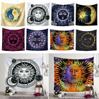 Sun and Moon Boho Tapestry Hippie Wall Hanging Bedspread Throw Cover Home Decor