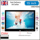 15 Inch Clock USB MP4 Movie Player Digital Photo Frame album Touch Buttom