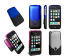 ifrogz iPhone 3G / 3GS Two Tone Lux Case & Screen Protector Blue Purple Silver