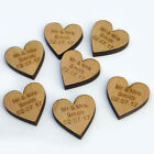 Personalised Wooden Love Heart Table Decorations Rustic Vintage Wedding Favours