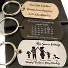 Personalised Mothers Day Gift Key ring Titanium Steel Dog Tag Army Keychain