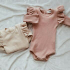 UK Newborn Toddler Baby Boy Girl Romper Jumpsuit Bodysuit Outfits Cotton Clothes