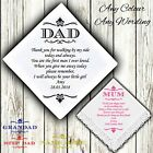 Mother / Father of the Bride Personalised Handkerchief Wedding Gift Poem Mum Dad
