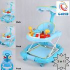 New G4RCE Walk Rock or Push 3 in 1 Baby Toddler Height Adjustable Toy Walker UK