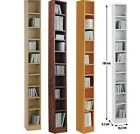 Tall CD Rack Wooden Storage DVD Shelving Unit Tower Organiser Music Shelf,5 Type