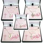 Sterling Silver Cross Necklaces. Christening Gifts for Girls in Gift Boxes