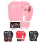 Pink Boxing Gloves Ladies Kids Sparring Gym Training MMA Girl Mitts 4oz-16oz