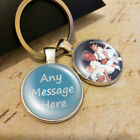 Personalised Photo Keyring - Any Message - Mothers Day Birthday Present Gift Box