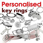 Personalised Key Ring engraved with text, name, logo *16* GIFT * car * airplane