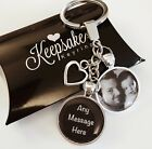 Personalised Photo Keyring - Any Message - Fathers Day Birthday Present Gift Box