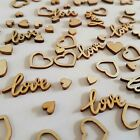 Wedding Table Decorations Rustic Small Wooden Love Hearts Confetti Decor BIO
