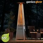 Garden Glow 13KW Gas Patio Heater Pyramid Tower Outdoor Freestanding Flame Fire