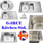 Real Stainless Steel Kitchen Sink Single Bowl Laundry Catering Top mount Square