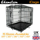 DOG PET CAGE PUPPY TRAINING CRATE CARRIER HEAVY DUTY WIRE S MED LARGE XL XXL