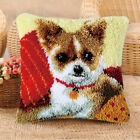 Latch Hook Cushion Kits Animals Dog/Cat/Horse/Rabbit/Ladybug/Bear Pattern Pollow