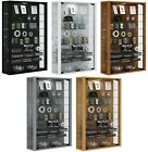 Large Glass Display Cabinet Wall Mounted Tall Toys Vapes Various Colours