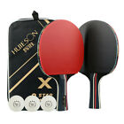 UK_ 2Pcs Professional Table Tennis Racket Ping Pong Bat w/ Paddle Bag 3 Ball Sig