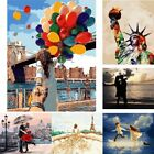 UK Frameless Paint by Numbers Kits DIY Canvas Oil Painting Kids Adult Home Decor