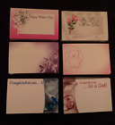 Personal Message Cards Mothers Day Baby Shower Gift Decorating Pink/Blue/Purple