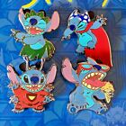 *GENUINE* Disney Pin Lilo and Stitch Trading Badges Various Outfits Very Rare!!