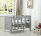 "MCC® Wooden Baby Cot Bed ""Orlando"" & Water repellent Mattress"