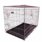 HugglePets Dog Cage PINK BLUE Puppy Crate with Tray Small Medium Large -Training