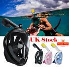 2019 Version Full Face Diving Snorkel Mask Swimming Security Buckle Fit Gopro UK