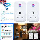 WiFi Smart Alexa UK Plug With Remote Control Switch Socket For Echo Google CO UK