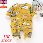UK Baby Boy Girl Animal Printed Bodysuit Jumpsuit Newborn Romper Clothes Outfits