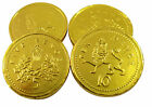 MILK CHOCOLATE LARGE GOLD FOILED COINS,100,10 50, 20 Weddings,party bags fillers